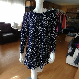 NWT Lauren by Ralph Lauren Printed Jersey Dress
